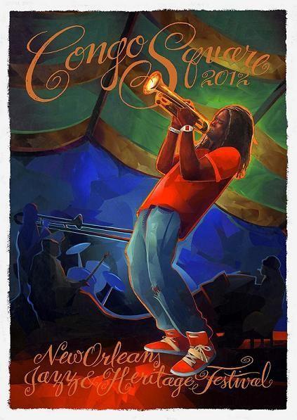 JazzFest 2012 Congo Square Poster Featuring Shamarr Allen